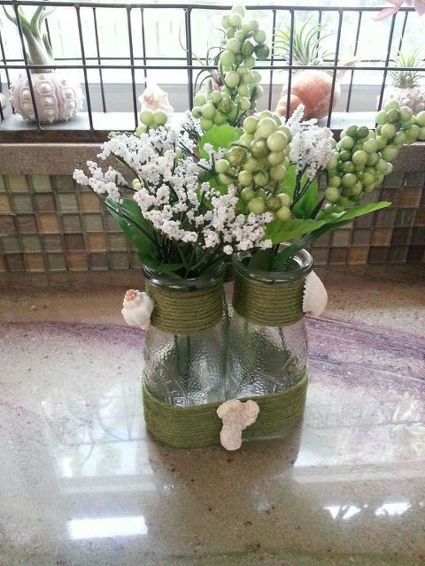 You Are Just 1 Hour Away From The Cutest Milk Bottle Vase Hometalk