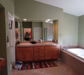 Master Bath Makeover From Dated To Dazzeling On A Dime , Bathroom Ideas,  Home Decor