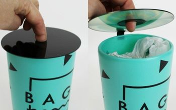 Plastic Bag Dispenser From a Soda Bottle & CD