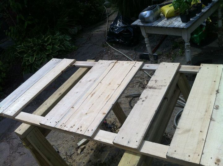 diy pallet table 13 easy outdoor diy projects upcycles hometalk