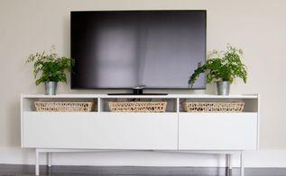 diy tv box cover, crafts, living room ideas