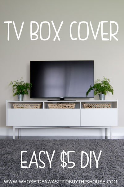 diy tv box cover hometalk. Black Bedroom Furniture Sets. Home Design Ideas