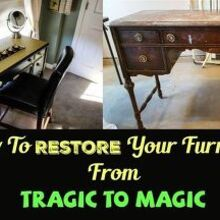 how to restore your furniture from tragic to magic, how to, painted furniture