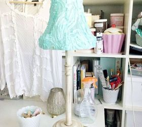 How To Make A Shabby Chic Lampshade and Distressed Lamp Base ...