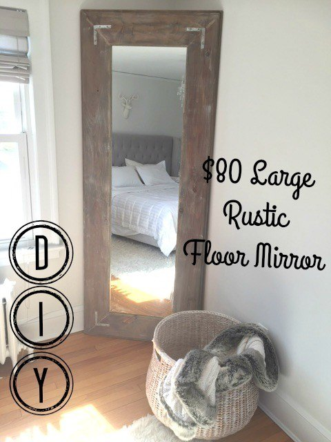 diy large leaning floor mirror diy wall decor woodworking projects - Diy Large Picture Frame