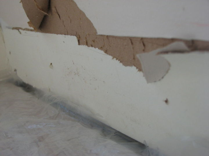 How To Repair Damaged Drywall Afteryour Baseboards Were