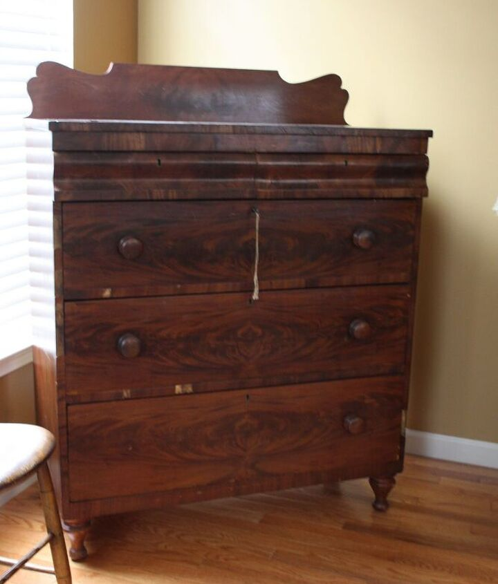 early 1800 s antique dresser, painted furniture