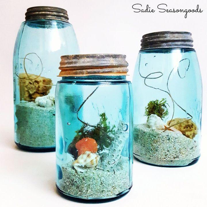 diy summer beach vacation memory jars, crafts, mason jars, seasonal holiday decor