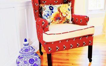 DIY Wing Back Chair Reupholster!