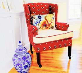 Superieur Diy Wing Back Chair Reupholster, Painted Furniture, Reupholster