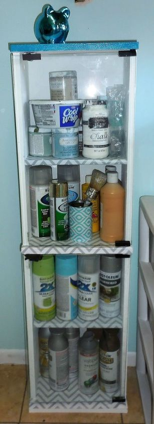up cycled dvd cd storage, chalk paint, craft rooms, painted furniture, repurposing upcycling, storage ideas