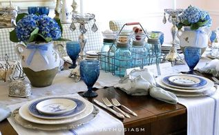 an unusual use for mason jars on my french country table, crafts, dining room ideas, mason jars, seasonal holiday decor