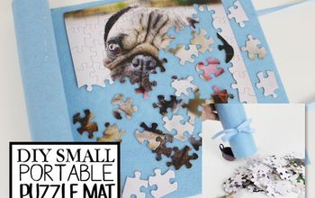 Small Puzzle Container & Mat Upcycle