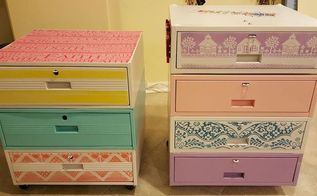 repurposed heavy metal drawers, how to, painted furniture