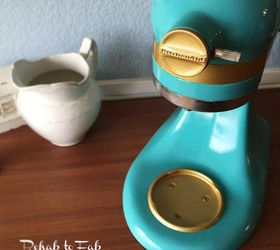 A Little Glitz Glam For This Boring White Kitchenaid Mixer, Crafts, How To