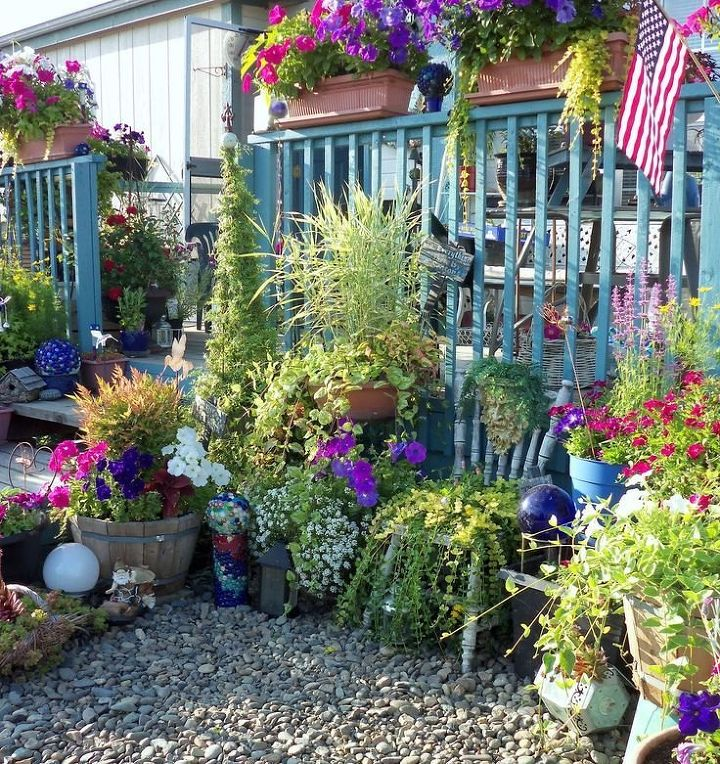 q i want to grow wave petunias in window boxes how many for each box , container gardening, flowers, gardening, plant care, How many wave petunias for each of the rectangular railing planters These have 4 regular petunias in each