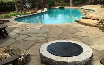 Natural Stone Poolside Patio & Outdoor Living Area. (Drone Edition)