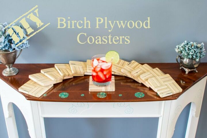 diy birch plywood coasters, crafts, diy, woodworking projects