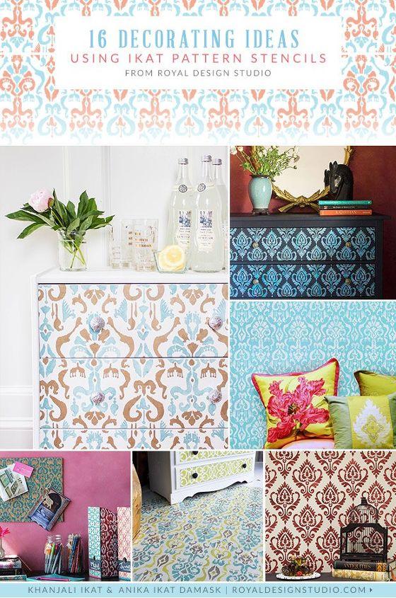 16 Decorating Ideas Using Ikat Pattern Stencils Hometalk