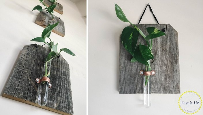 happy earth day rustic wood plant holder decor, container gardening, gardening, how to, wall decor