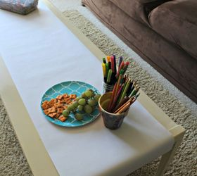 Why Our Coffee Table Makes Our Kids Happy, Entertainment Rec Rooms, Painted  Furniture,. Coffee Table With Hidden Paper Roll
