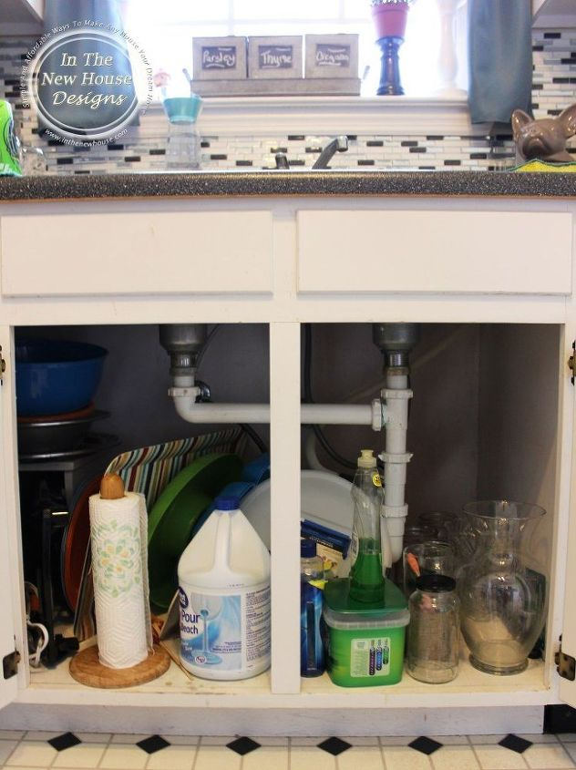 How To Organize Under Your Kitchen Sink (The Real Life Way) | Hometalk
