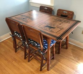 & Refinished Kitchen Table u0026 Chairs With Beautiful Stenciling | Hometalk