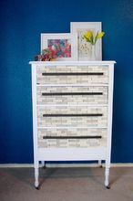diy wood tiled dresser, painted furniture, woodworking projects