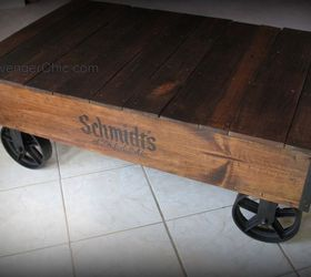 Industrial Cart Pallet Wood Coffee Table, Diy, Pallet, Repurposing  Upcycling, Rustic Furniture