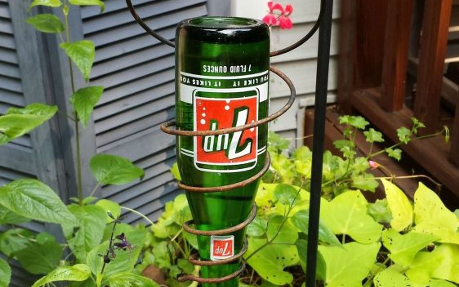 s 15 incredible backyard ideas using empty wine bottles, gardening, outdoor living, repurposing upcycling, Make a hummingbird feeder for every tree