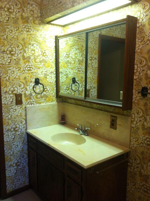 A Dated Bathroom Makeover- DIY Style! | Hometalk