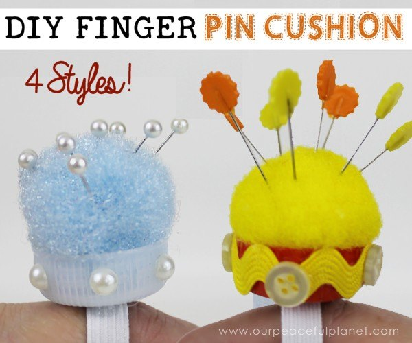 10 minute finger pin cushion, crafts, how to, repurposing upcycling