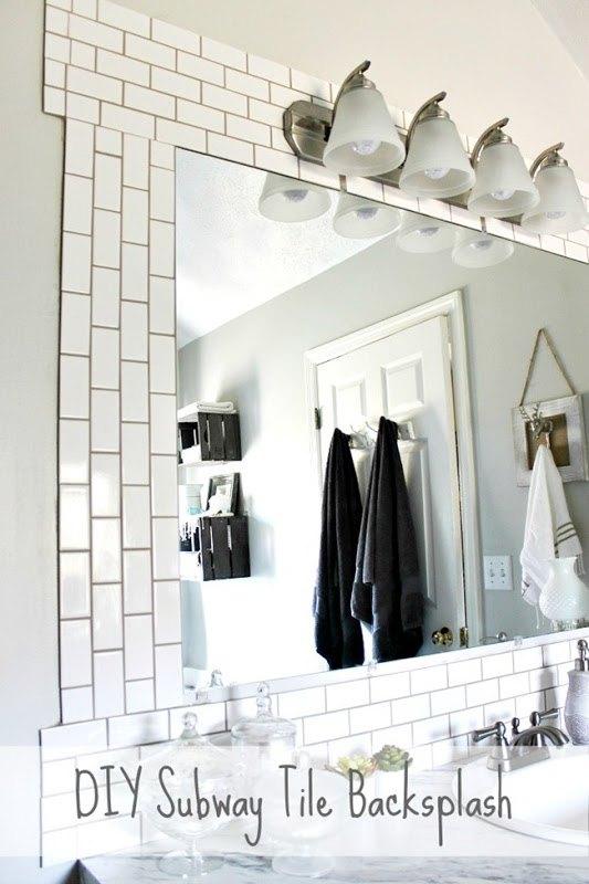 Diy Subway Tile Backsplash Bathroom Ideas Kitchen Tiling