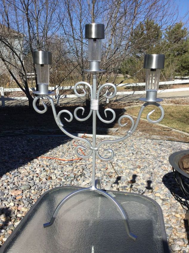 from candle to solarabra , lighting, outdoor furniture, repurposing upcycling