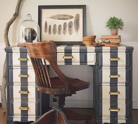 Striped Desk In Annie Sloan Chalk Paint, Chalk Paint, Painted Furniture ...