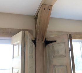 Faux Rustic Wood And Beams, Home Decor, Home Maintenance Repairs