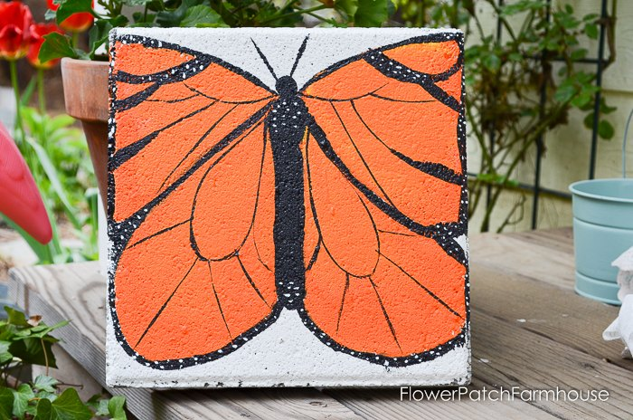 paint a monarch cement stepping stone, concrete masonry, crafts, gardening