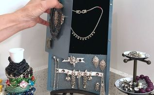 hidden jewelry box, crafts, how to, organizing, storage ideas