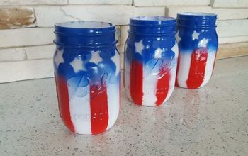 How to Make American Flag Mason Jars