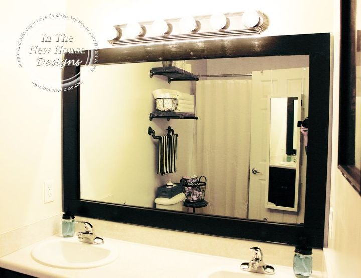 How to frame a bathroom mirror on a budget hometalk how to frame a bathroom mirror on a budget bathroom ideas home decor solutioingenieria Choice Image