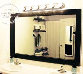 How To Frame A Bathroom Mirror On A Budget, Bathroom Ideas, Home Decor,