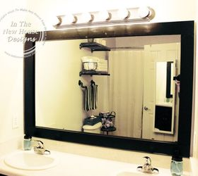 How To Frame A Bathroom Mirror On A Budget, Bathroom Ideas, Home Decor,