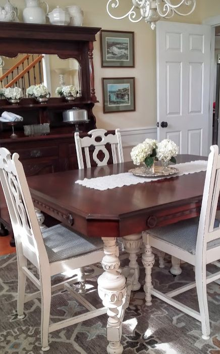 Old Dining Room Table Makeover Ideas Painted Furniture