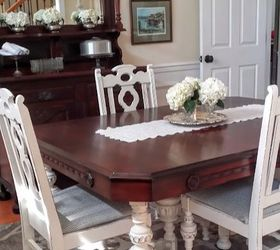 Old Dining Room Table Makeover, Dining Room Ideas, Painted Furniture
