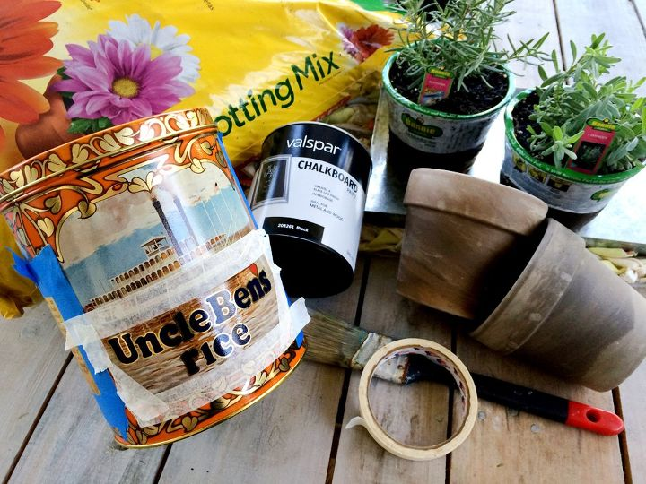 vintage tin can planter, chalkboard paint, container gardening, crafts, gardening, how to, repurposing upcycling