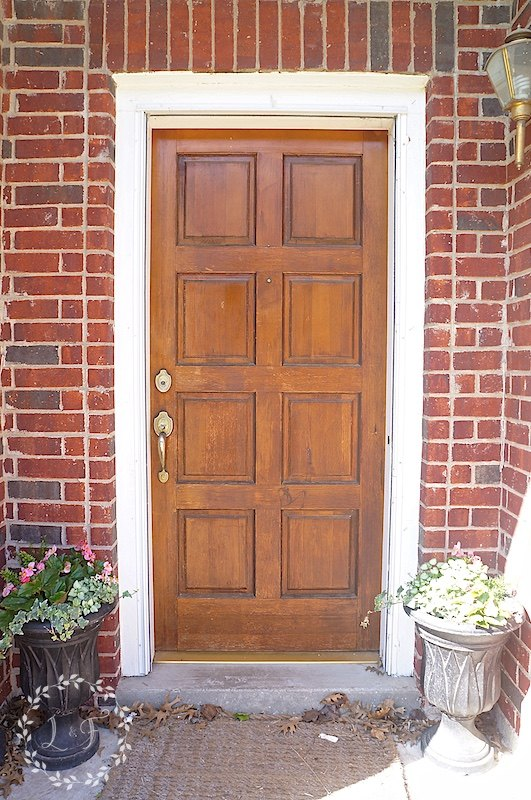 A Low Cost And Simple Way To Give Your Front Door A Fresh Look