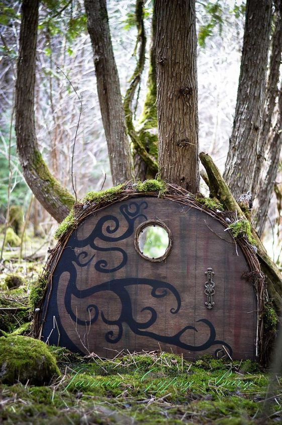 magical garden doors for fairies hobbits gnomes and more, crafts, doors, gardening