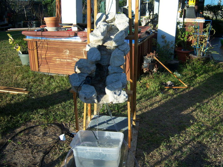 How to Build a Fairy Garden Waterfall With Foam In A Can | Hometalk
