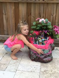 how to build a fairy garden waterfall with foam in a can, gardening, how to, ponds water features