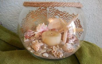 Sea Shell Centerpiece Up Dated
